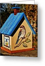 Cottage Birdhouse-back Greeting Card