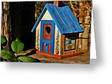 Cottage Birdhouse Greeting Card