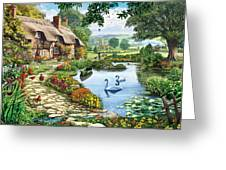 Cottage By The Lake Greeting Card