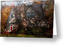 Cottage - Cranford Nj - Autumn Cottage  Greeting Card