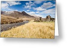 Cottage In Ruins At Bienn Eighe Greeting Card