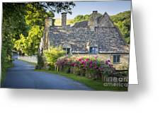 Cottage In The Cotswolds Greeting Card