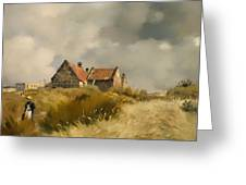 Cottage In The Dunes Greeting Card