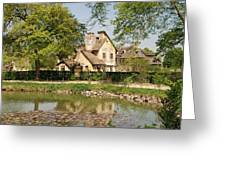 Cottage In The Hameau De La Reine Greeting Card