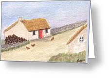 Cottage In The West Greeting Card