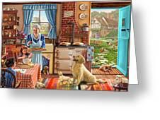 Cottage Interior Greeting Card