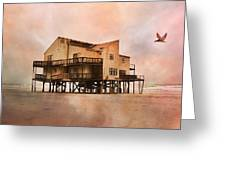 Cottage Of The Past Greeting Card by Betsy Knapp