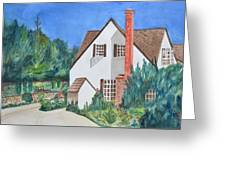 Cottage On A Hill Greeting Card