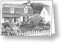 Cottage Pencil Portrait Greeting Card