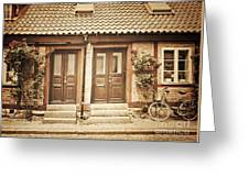 Cottage Townhouses In Lund Greeting Card