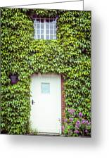 Cottage With Ivy Greeting Card