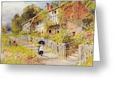 Cottages   A Row Of Cottages Greeting Card