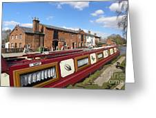 Cottages At Fradley Junction Greeting Card