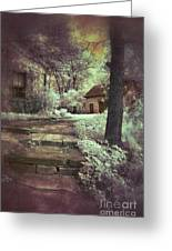 Cottages In The Woods Greeting Card by Jill Battaglia