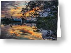 Cotton Bayou Sunrise Greeting Card