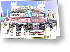Cotton Candy Castle Greeting Card