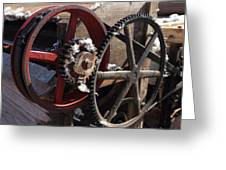 Cotton Gin Gears Greeting Card