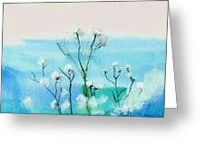 Cotton Poppies Greeting Card