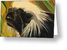Cotton Top Tamarin Zack Half Of All Proceeds Go To Jungle Friends Primate Sanctuary Greeting Card