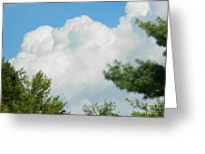 Cottonballs In The Sky Greeting Card