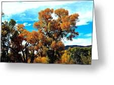 Cottonwood Fall Dress Greeting Card