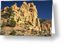 Cottonwood Yellow Towers Greeting Card