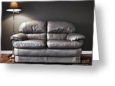 Couch And Lamp Greeting Card