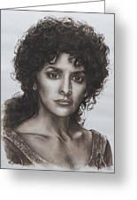 counselor Deanna Troi Star Trek TNG Greeting Card by Giulia Riva