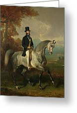 Count Alfred De Montgomery 1810-91 1850-60 Oil On Canvas Greeting Card