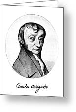Count Amedeo Avogadro (1776-1856) Greeting Card