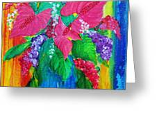Countrified Exotic Greeting Card