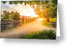 Country Alley Greeting Card