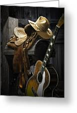 Country And Western Music Greeting Card