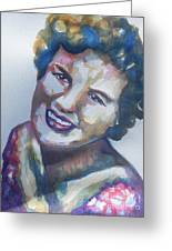 Country Artist Patsy Cline Greeting Card