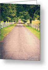 Country Back Roads Greeting Card