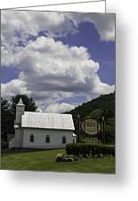 Country Church And Sign Greeting Card