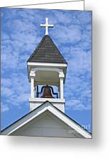 Country Church Bell Greeting Card