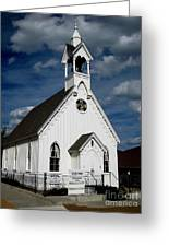 Country Church Greeting Card by Claudette Bujold-Poirier