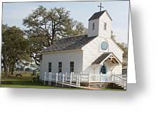 Round Top Texas Country Church Greeting Card