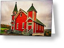 Country Church Paint Greeting Card
