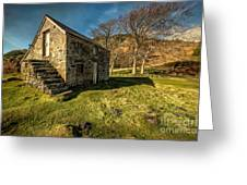 Country Cottage Greeting Card by Adrian Evans