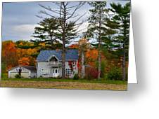 Country Cottage In Autumn Greeting Card