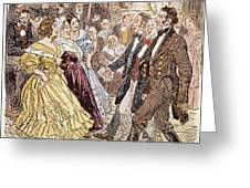 Country Dance, 1820s Greeting Card