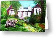 Country Estate In Spring Greeting Card