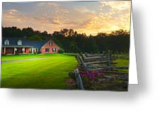 Country Estate Sunset Greeting Card