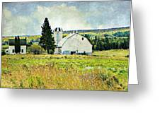 Country Farm Greeting Card by Dianne  Lacourciere
