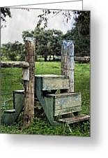 Country Farm Fence Stile Crossing Greeting Card