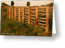 Country Fence In England Greeting Card