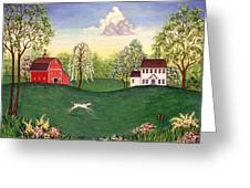 Country Frolic One Greeting Card