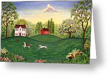 Country Frolic Two Greeting Card